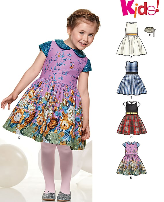 f891045ec5 Simplicity New Look Sewing Pattern 6335 Child Girl Dress No