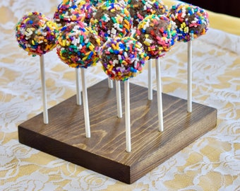 Cake Pop StandCake HolderWood Stand WeddingRustic StandLollipop HolderCake