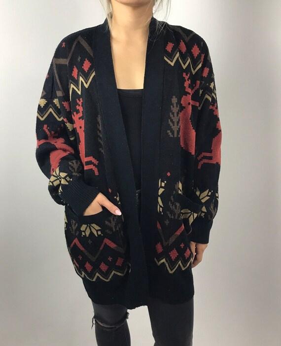 90's Oversized Fall Sweater Cardigan