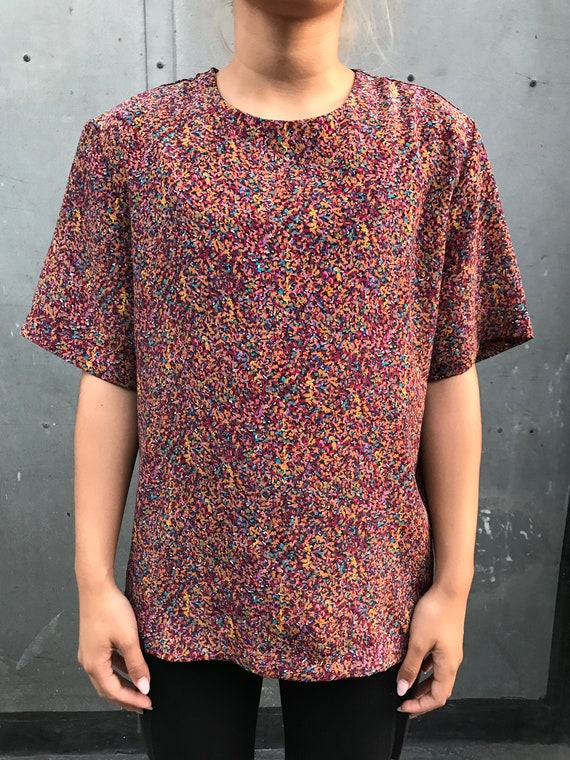 90's Boxy Printed Blouse - image 1