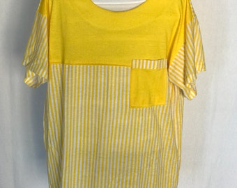 80's Striped/ Color blocked Top