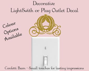 Light Switch or Plug Outlet Decal, Carriage Decal, Vinyl Wall Decal, Removable Vinyl