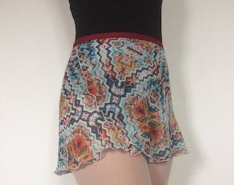 Youth Chiffon Ballet Wrap Skirt - Tribal