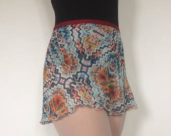 Adult Chiffon Ballet Wrap Skirt - Tribal