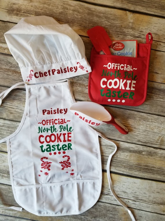 Toddler Cooking Apron Kids Personalized Gift Set Custom Gift for Children