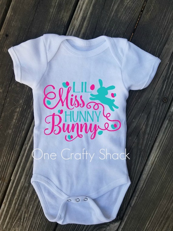 Easter Onesie Baby Girl Clothing Hunny Bunny Hunny Bunny Onesie Bodysuits Onesie Girls/' Clothing Easter Easter Outfit Gifts for Her