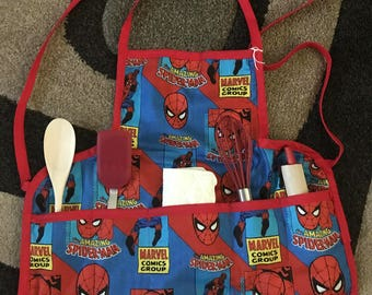 Spider-Man Apron with utensils