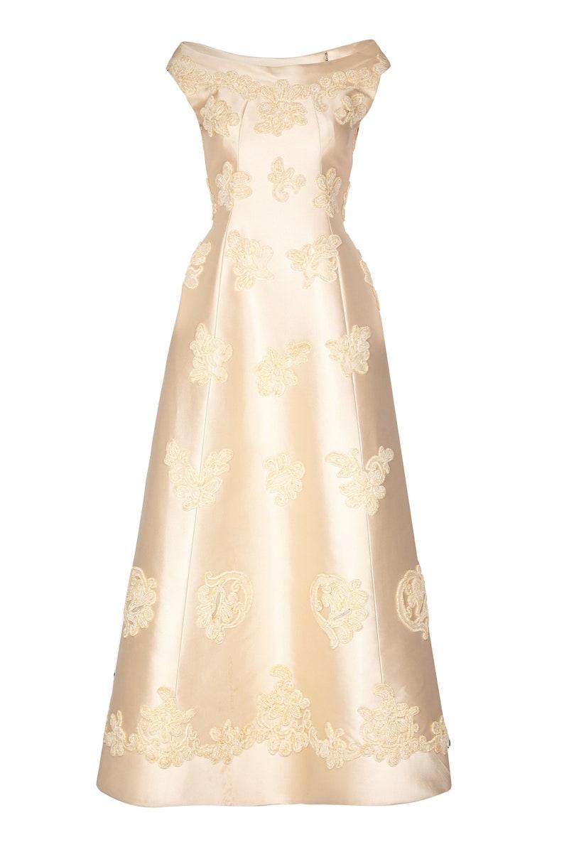853042af Pierre Balmain 1960s Haute Couture Ivory Silk Linen Bridal | Etsy