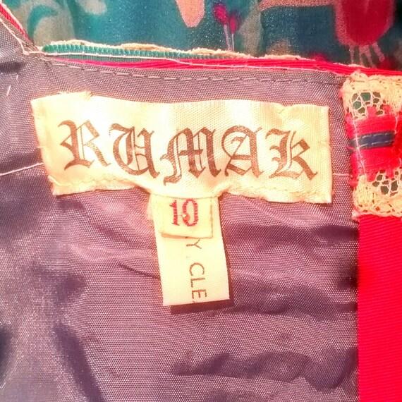 1970s Rumak Couture Boho Silk Chiffon Dress - lik… - image 6