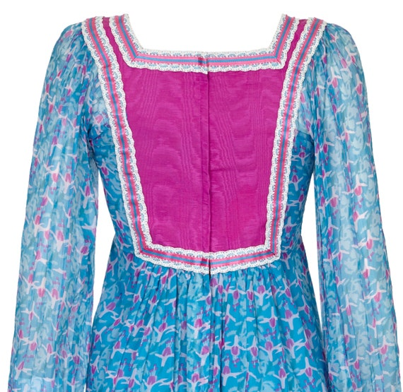 1970s Rumak Couture Boho Silk Chiffon Dress - lik… - image 4