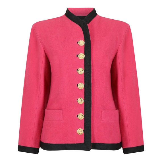 Runway Yves Saint Laurent 1994 Pink Wool Trimmed J
