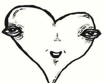 Creepy Heart Card