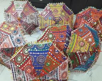 Sangrahan Designer Indian Traditional Handmade Rajasthani Umbrella - Wholesale Lot of 3 Pc / 5 Pc / 10 Pc