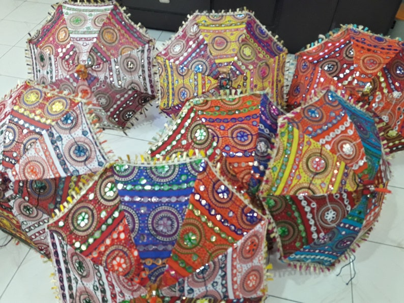 Sangrahan Handmade Traditional Indian Rajasthani Umbrella  image 0