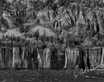 Waterworn / landscape black and white photograph, fine art, wall art print, landscape photo, b&w photography, nature wall decor