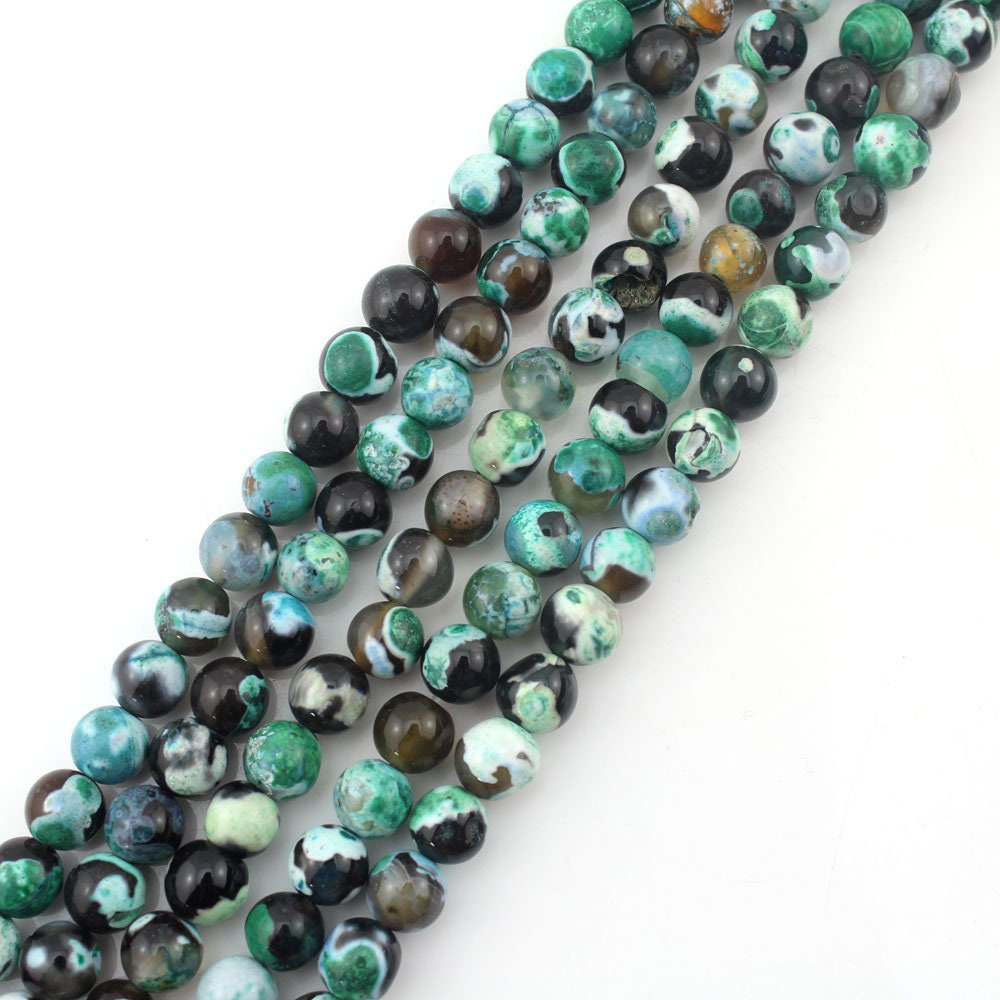 "Copper Turquoise 8mm Round Bead Shape 16/"" Inches Strand Stones Beads !#"