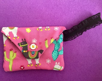 Llama and Cactus Small Purse