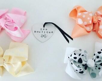 Large Ribbon hair bow clips