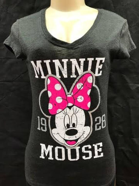 Disney Shirt Minnie Mouse T Shirt Womens Disney Clothing Etsy