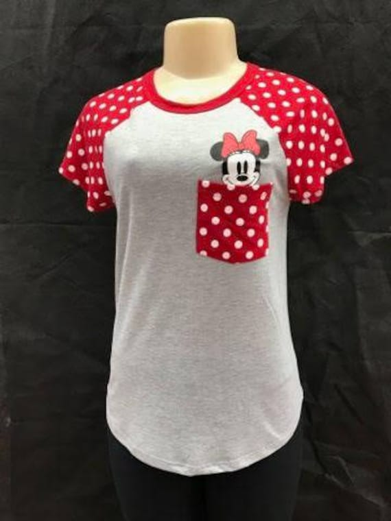 Minnie Mouse T Shirt Disney Shirt Womens Disney T Shirts Etsy