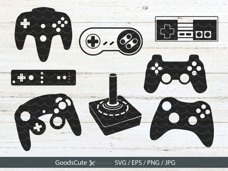 Game Controller Svg Gamer Svg File Vector For Silhouette Cricut Cutting Machine Design Download Print