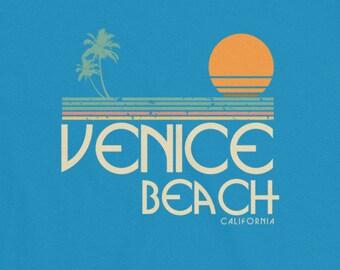 Venice Beach California Vintage Surf Short-Sleeve T-Shirt