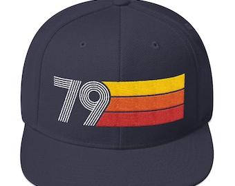 7ab600bcff2f5 1979 Birthday Retro Snapback Hat