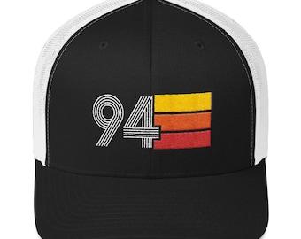 6cd05bd35e8e Retro 1994 25th Birthday Hat Mens Womens Trucker Cap