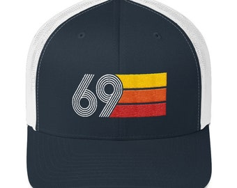 Retro 1969 50th Birthday Hat Mens Womens Trucker Cap