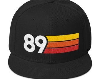 4a3c6a6dc18a6 1989 Retro 30th Birthday Mens Womens Snapback Hat