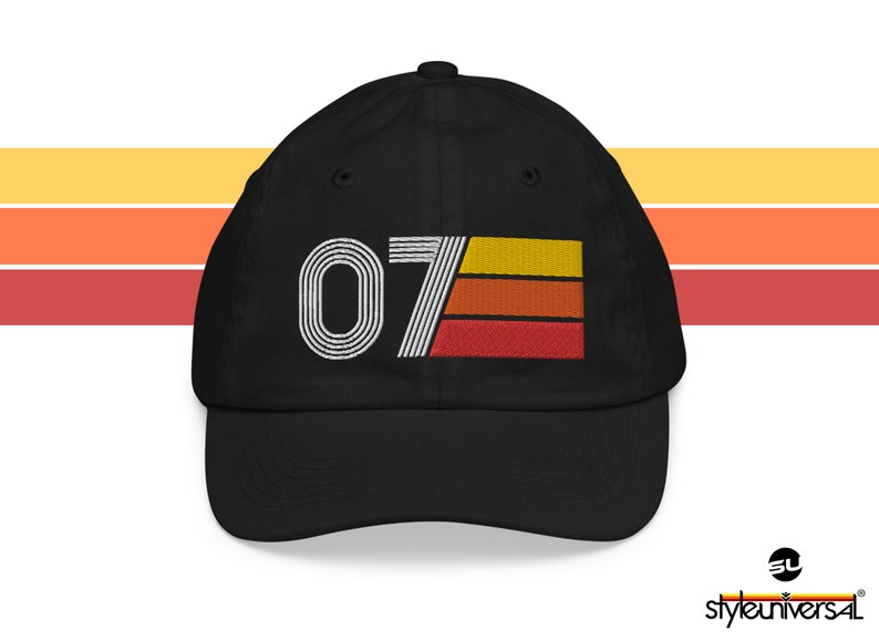 Number 7  7th Birthday Youth baseball cap image 0