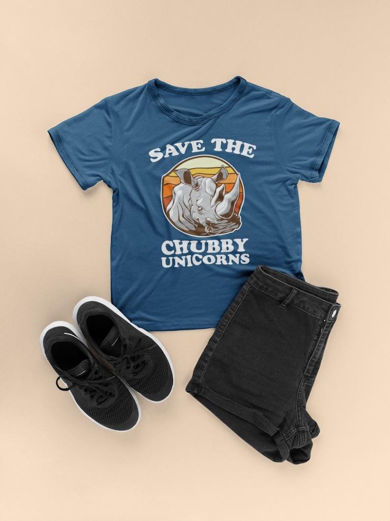 8e7943af9 Save The Chubby Unicorns Funny Rhino Short-Sleeve Unisex | Etsy