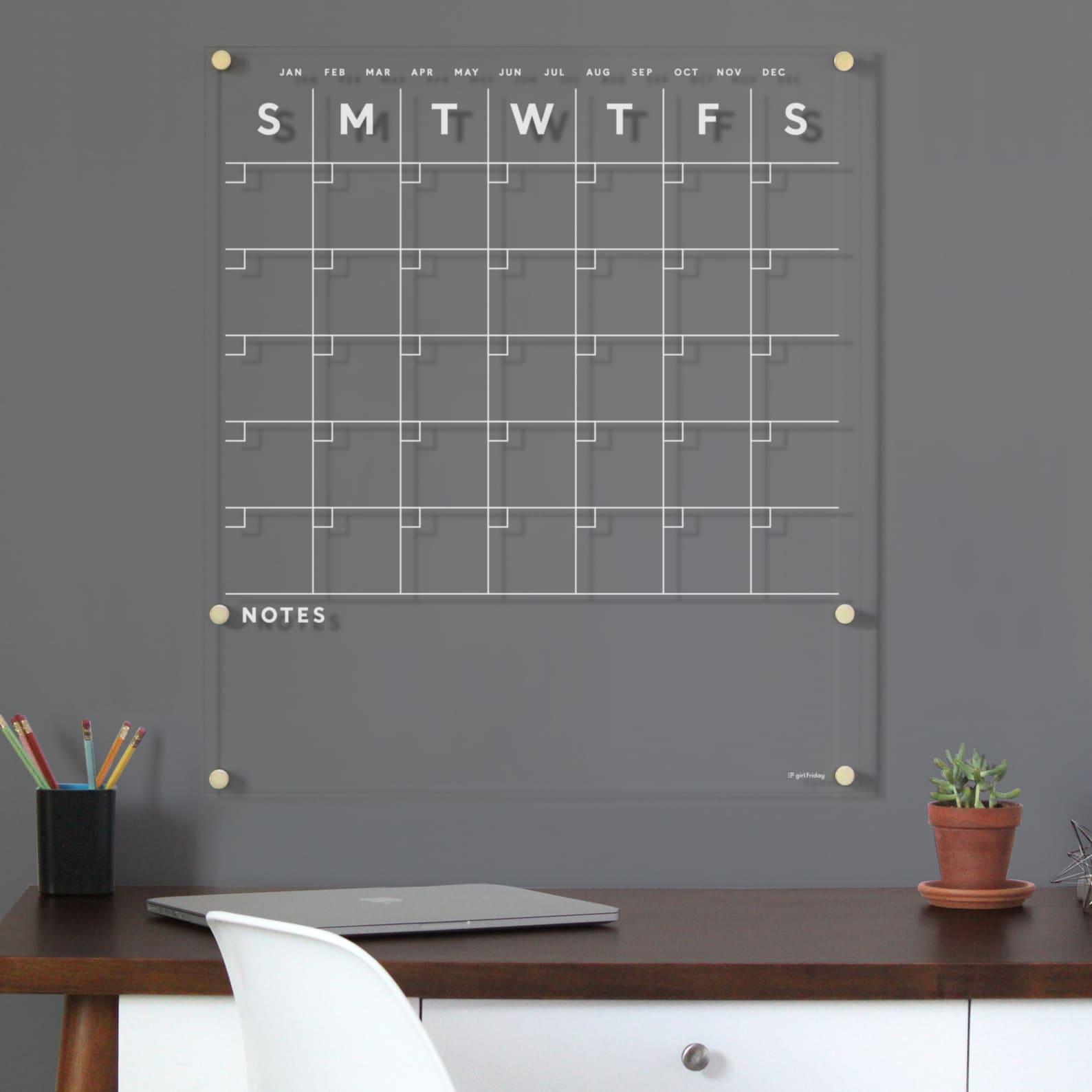 home office dry erase calendar
