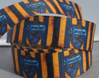 Harry Potter - Ravenclaw Eagle- Grosgrain Ribbon - 22mm wide - DIY Hair Accessories - Party Ribbon