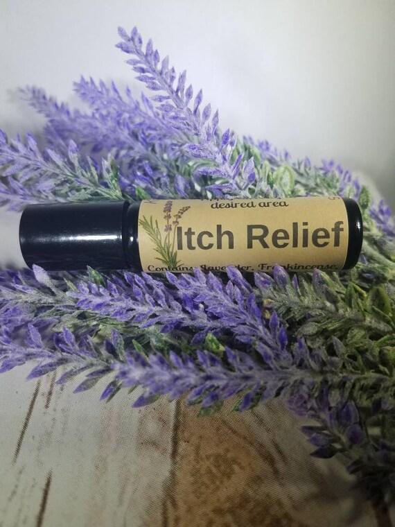 ITCH RELIEF huile essentielle ROLLER bouteille ~ symptômes d'eczéma ~ Fast Relief de démangeaisons ~ gratte pour les piqûres d'insectes ou Poison Ivy ~ démangeaisons de la peau sèche