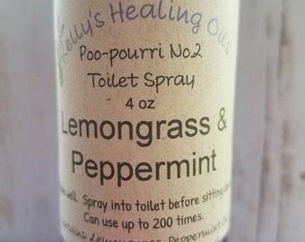 POO-POURRI SPRAY Lemongrass & Peppermint made with DoTerra essential oils,lavender,linen dress,essential oil,air plant,gift for her,lip balm