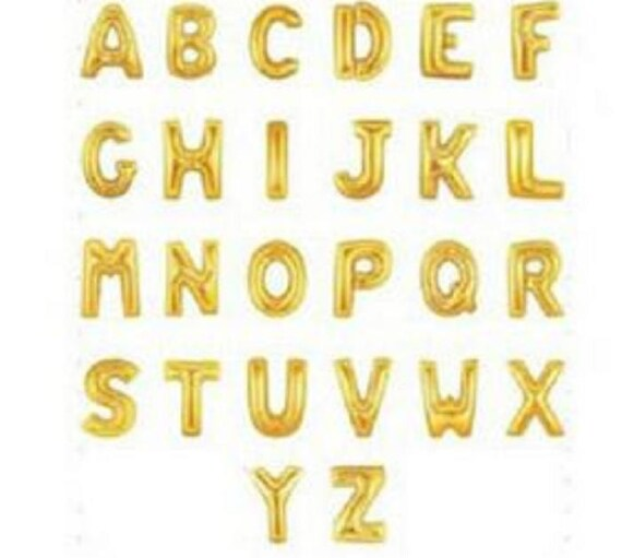 One Piece FOIL Alphabet Letter Balloons A-Z All The Silver Color For Party