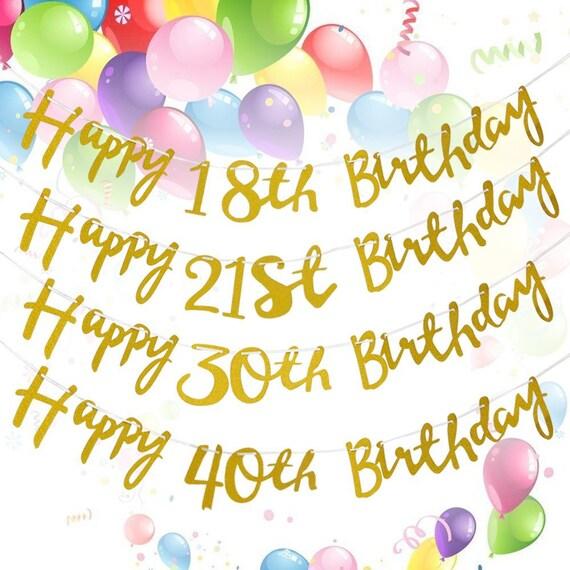 1.5M Gold Happy Birthday Milestone 18th 21st 30th 40th