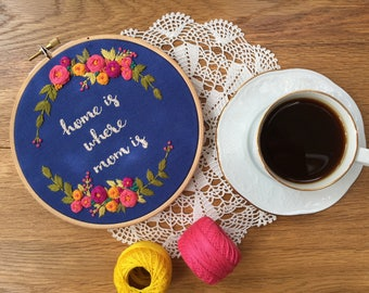 Embroidery hoop, Embroidery art, Hand embroidery,Floral embroidery,Embroidery hoop art,Modern embroidery,Mothers day gift,Home decor