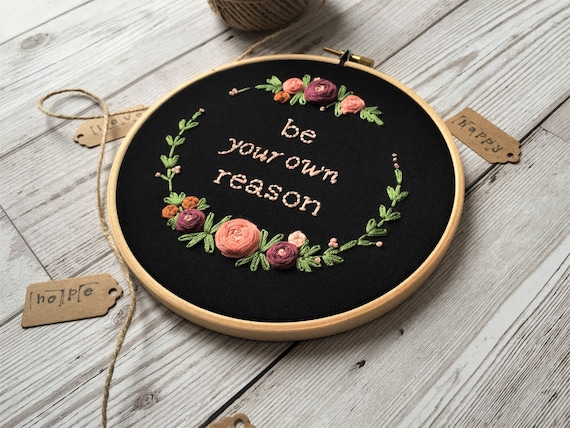 Winslow Hand Embroidered Hoop Art ON SALE
