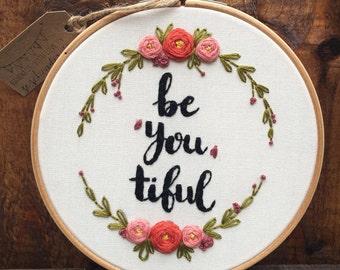 Hand embroidery art, Floral embroidery, Modern embroidery hoop art, Birthday gift, Nursery decoration, Nursery embroidery, Zezehandcraft