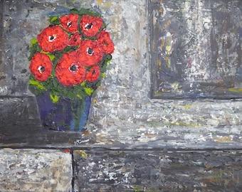 Still life, Red Flowers 2