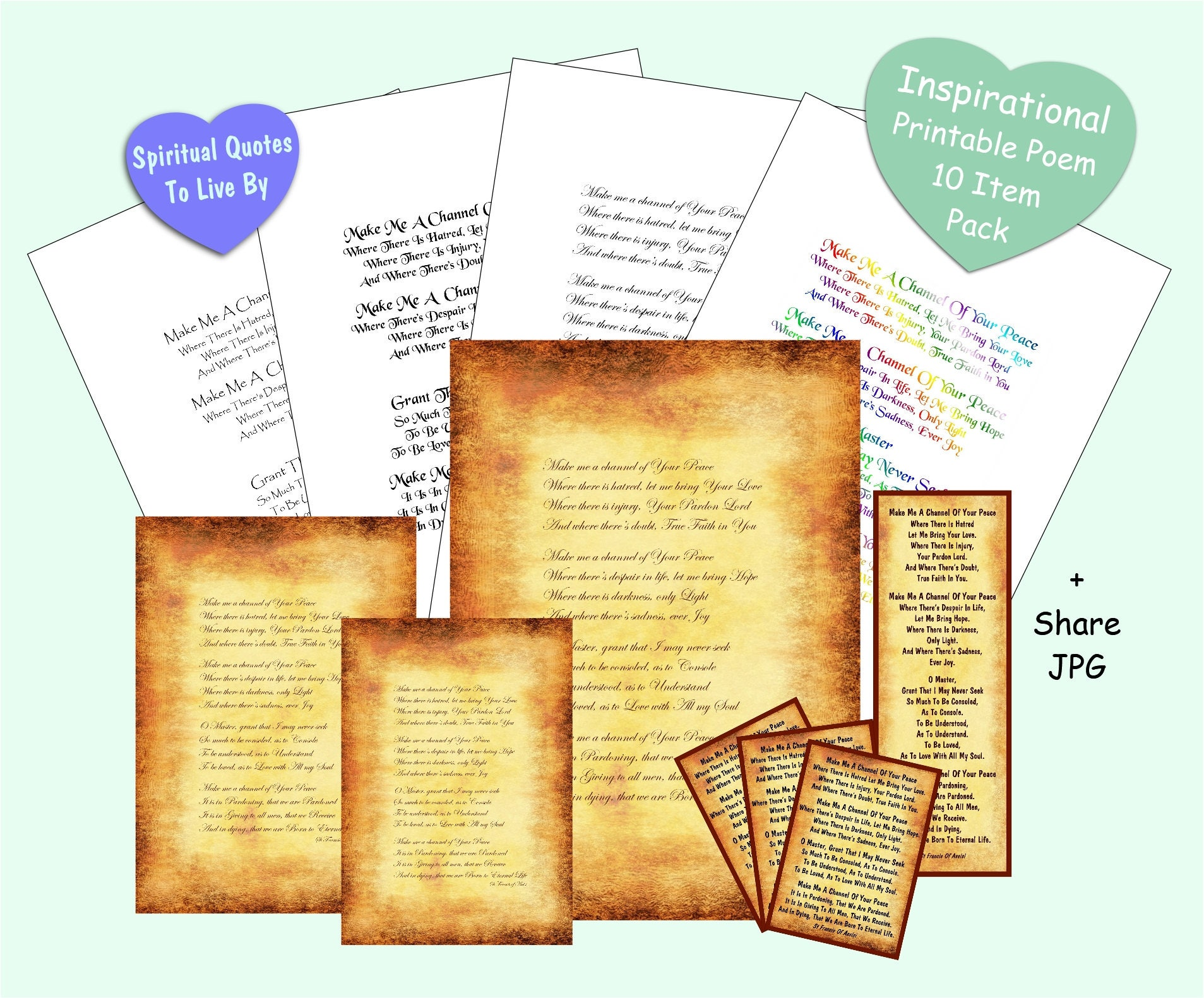 St Francis Of Isi Quotes | Make Me A Channel Of Your Peace Printable 10 Item Pack St Etsy