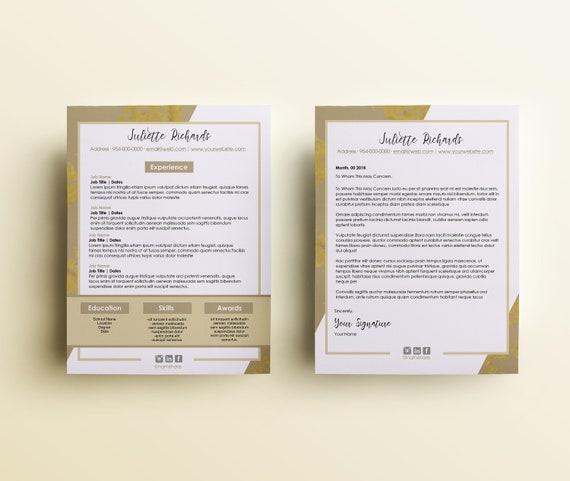 Modern Resume Cover Letter Templates, Resume, Cover-letter , Template,  Minimalist Template