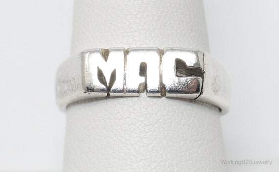 Vintage MAC Mexico Sterling Silver Ring Size 8.5