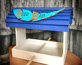 The Seed Bar - Bird Feeder - HandCrafted Wooden Creations
