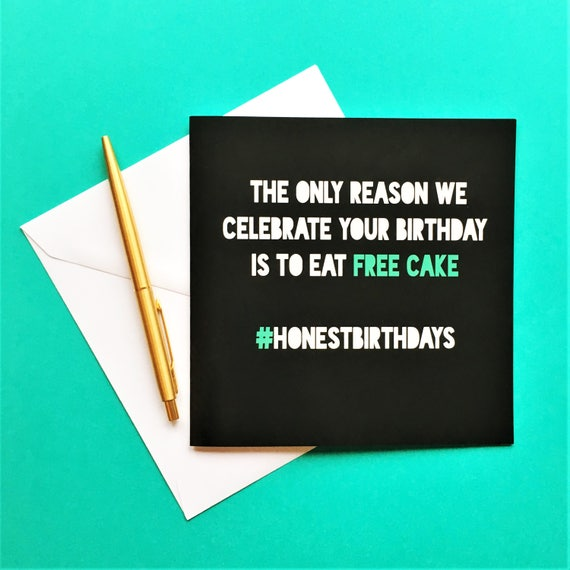 Funny Free Cake Birthday Card Rude