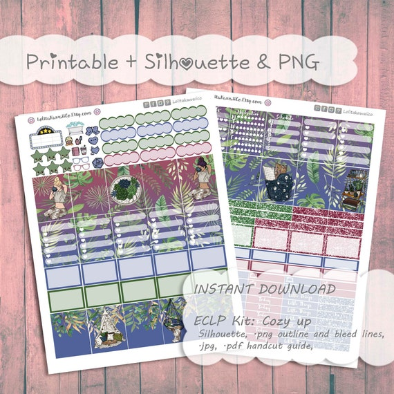 ECLP Weekly Kit: Cozy Up || Printable Planner Stickers ~ Erin Condren ~  Easter Spring
