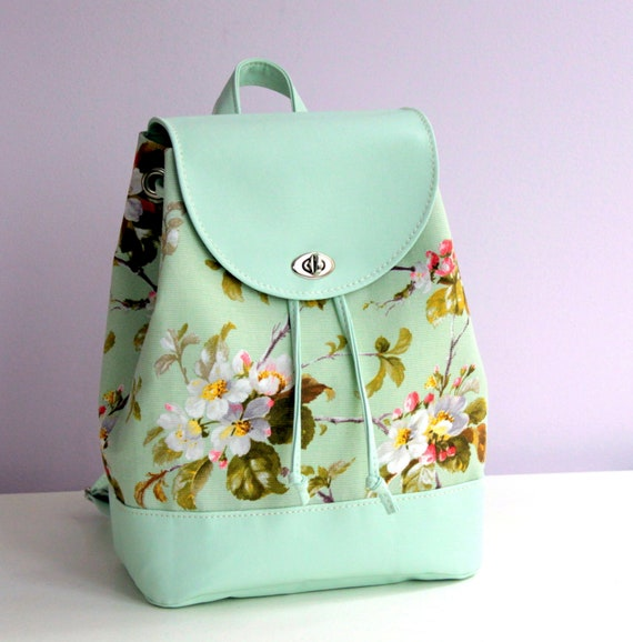 Mint backpack Apple in Blossom Backpack for woman  18cd63768db54