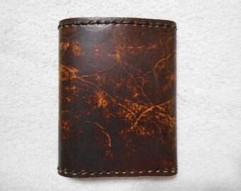 Genuine Leather, Brown Trifold Fold Wallet.  Triplefold Wallet, Personalized Wallet